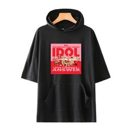 $enCountryForm.capitalKeyWord Australia - new bulletproof youth group BTS IDOL fashion personality should be aided with hood short sleeved designer men T shirt woman tee brand tees