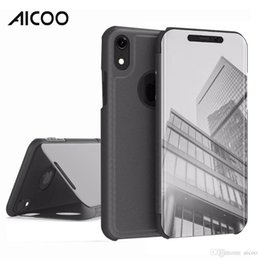 $enCountryForm.capitalKeyWord NZ - Mirror Plating View Window Makeup Wallet Case Flip Folio Cover for iPhone XS Max XR X 8 7 6s 5 Plus Samsung Note 9 S10 S10e S9 Packging