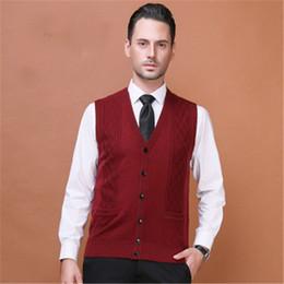 $enCountryForm.capitalKeyWord Australia - Mens Sweaters Autumn Winter Jacket Men Warm Pullovers Sleeveless V Neck Knitted Vest Femme Elegant Casual Sweater Vests