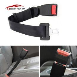 $enCountryForm.capitalKeyWord Australia - Universal Car Vehicle Seat Belt Extension Extender Strap Safety Belt Buckle Black  grey Car Interior Accessories 25-65CM