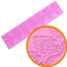 fondant lace mat 2020 - Lace Mat Silicone Mold Sugar Craft Fondant Cake Molds Decorating Tools High Quality Kitchen Accessories Bakeware Tools L