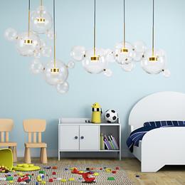 $enCountryForm.capitalKeyWord NZ - Art Creative Soap Bubble Clear Glass Ball LED Pendant Light Livingroom Bedroom Dining Room Designer Light Fixtures Free Shipping