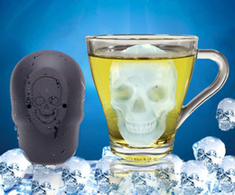halloween chocolate moulds NZ - Hot Sale 3D Skull Head Ice Cube Mold Halloween Skull Shaped Whisky Wine Ice Cube Tray Maker Chocolate Mould Bar Party Supplies
