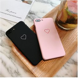 $enCountryForm.capitalKeyWord NZ - Cute Love Heart Print Back Cover For iPhone X XS XR Max 7 6 6S Plus 5 5S SE Phone Case Hard PC Cases Coque For iPhone 8 8 Plus