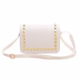 Wholesale Ladies Handbags Ostrich Australia - Wholesale-Fashion Women Bags Rivet PU Leather Lady Handbag Female Messenger Crossbody Bag Satchel Shoulder Bag Clutches Bolsa Feminina