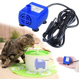 water fountains indoor plastic Australia - Pet Dog Cat Water Fountain Pump Replacement Submersible Drinking Fountain Pump