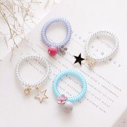Hair Wristbands Australia - elephone Wire Coil Hair Band with Crystal Diamond Charm Jewelry Bracelet Wristband Hair Tie Ponytail Holder