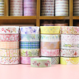 $enCountryForm.capitalKeyWord UK - 2019 1PC DIY Hot Flower Washi Tape Decoration Roll Decorative Sticky Paper Tape Self Adhesive Scrapbook Tape