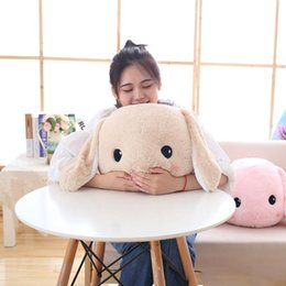 Doll Rabbit Long Ear Australia - big long ears rabbit plush toys bunny stuffed doll soft baby kids sleep pillow 40cm christmas birthday gift