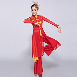 Women Costume Hanfu Australia - Chinese costume hanfu yangko costume female adult hmong ethnic style dance for woman