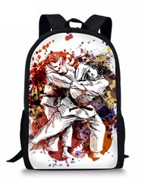 Art Canvas Prints Australia - Cool Martial Arts JUDO 3D Printed Backpack Women Schoolbag Back Pack Leisure Ladies Girls Backpacks Teens Travel Bags for Female Male ZS60