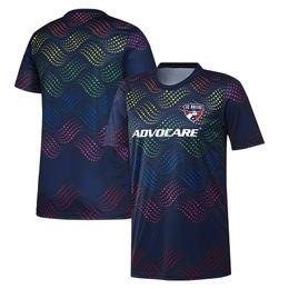 Top Football Jerseys UK - 2019 Men's FC Dallas Navy Pride Pre-Match Top soccer jersey 19 20 FC Dallas MLS Navy Pride Pre-Match Shirt football shir Running Jerseys