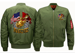 $enCountryForm.capitalKeyWord Canada - MARINES Print Ribbons Jacket Sport Flight Stand Collar Suit Mens Plus Size Casual Wear Designer Men Jacket