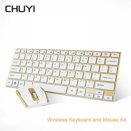 Thin mini lapTop online shopping - CHUYI G Wireless Keyboard And Mouse Combo Utral thin Mini Computer Keypad And Mice For PC Notebook Gamer Desktop Laptop