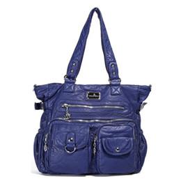Washed Messenger Bag Australia - Female Handbag Washing Water PU Women Dumpling Package One Shoulder Crossbody Bag Top-handle Handbag Tote Bag Messenger Bags