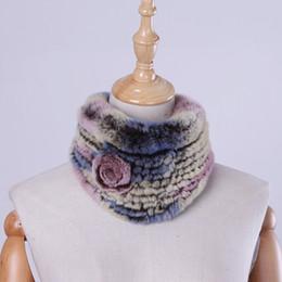 $enCountryForm.capitalKeyWord Australia - Genuine Real Rex Rabbit Knitted Women's Winter Fur Scarf Scarves Girl's Lovely Neck Warmer Ring Scarf Natural Fur Neckerchief