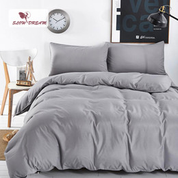 $enCountryForm.capitalKeyWord Australia - SlowDream Bedding Set Pastel Underwear Solid Color Double Duvet Cover Set Bedspread King Size Bed Sheet Bedclothes Bed Linen
