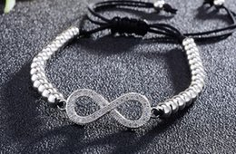 $enCountryForm.capitalKeyWord Australia - 8mm tn5345 glasses infinity gold silver cz zircon cubic zirconia bracelet adjusted Macrame Charm Braided Copper Rope Bangles