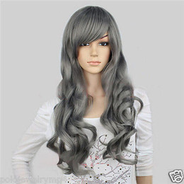 $enCountryForm.capitalKeyWord Australia - New Cosplay Fashion Show Gray Long Curly Women Full Wigs Sexy Cute Wigs for women wig Free deliver