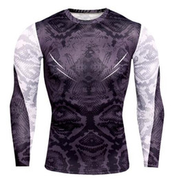 $enCountryForm.capitalKeyWord Australia - New Designer Mens Compression T Shirts Men Gyms Tight Undershirt Workout Tee Tops Snake Print Tshirt Muscle Fitness Shirt Men Rashgugard