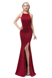 $enCountryForm.capitalKeyWord NZ - Tight tunic sexy evening dress women formal Bridal Dresses prom gown Dubai Long Evening Dresses side slit Prom Dress Robe De Soiree