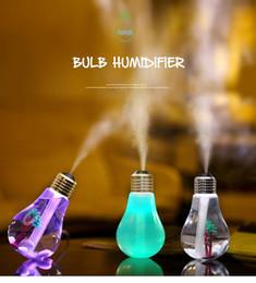 Creative Mini Colorful USB Night Light Bulb Air Purifier DC 5V Humidifier Mist Maker Fogger Diffuser Atomizer 400ml 110V-240V on Sale