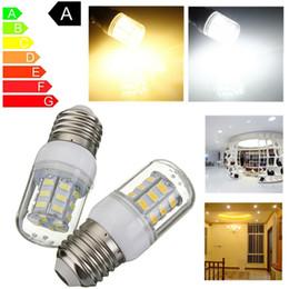 Energy Saving 12v Bulbs Australia - LED E27 12V 27 LEDs Light Bulb 5730 SMD Super Bright Energy Saving Lamp Corn Lights Spotlight Bulb Warm White Lighting