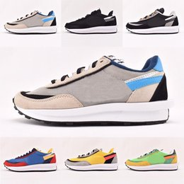 Camp Shoes For Men Australia - New UNDERCOVER x Sacai LDV Waffle blue green athletic shoes For men women fashion sneaker black white Camping Hiking running jogging trainer