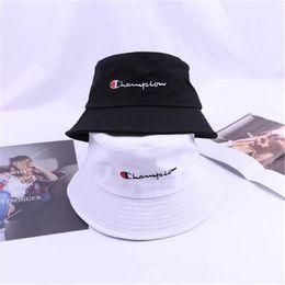 50306d2e Bucket summer hat online shopping - Unisex Champions Bucket Hat Letter  Print Unisex Fishing Cotton Hat