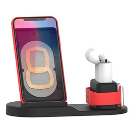 $enCountryForm.capitalKeyWord Australia - QI Wireless Charger Stand For IPhone Wireless Charging Dock Station 3 In 1 For Apple AirPods Apple Watch with box