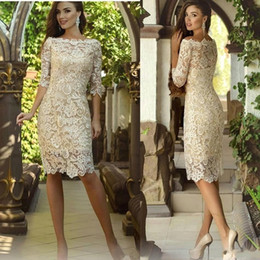 $enCountryForm.capitalKeyWord Australia - 2019 Elegant Mother of The Bride Dresses Full Lace Sheath Mothers Dresses For Wedding Events Champagne Prom Evening Dresses