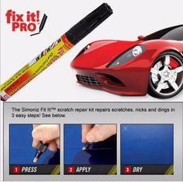 Ny Fix It Pro Car Coat Scratch Cover Ta bort målning Pen Bil Skrapa Reparation för Simoniz Clear Pennor Förpackning Bilvård Gratis frakt
