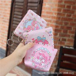 Cartoon Sheeps Australia - IVYYE 1PCS Melody Sheep Anime PU Coin Purse Cartoon Soft Change Bags Coins Pouch Money Wallet Card Key Storage Gift