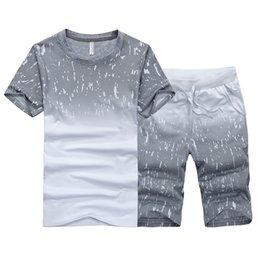 Korean clothes sport online shopping - Summer new men s short sleeved T shirt Korean sports suit clothes men s casual sports suit