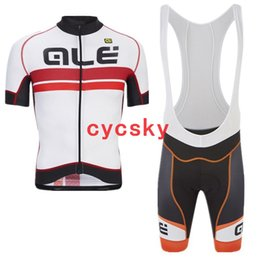 Discount ale cycling set - ale 2019 New cycling Jersey Bib shorts and bib shorts set breathable summer Outdoor quick-drying Breathable Tops Shirt R