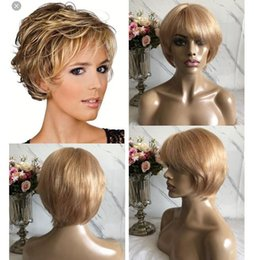 $enCountryForm.capitalKeyWord Australia - Celebrity Wig Lace Front Wigs Short Cut PiXie Style Blond Hair Burmese Virgin Human Hair Full Lace Wig for Black Woman Free Shipping