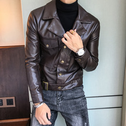 $enCountryForm.capitalKeyWord Australia - 2019 Men's Jacket Spring and Autumn Winter Hot Fashion Solid Color Sports and Leisure Motorcycle Simulation Men's Leather Jacket