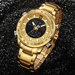$enCountryForm.capitalKeyWord Australia - Naviforce Top Brand Mens Gold Quartz Watch Clock Men Army Military Sports Watches Man Full Steel Waterproof Relogio Masculino Y19070603