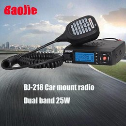 Wholesale BJ Mini Dual Band Car Mobile Radio FM Transceiver W High Power Walkie Talkie Radio Team Group Calling Mobile Audio