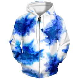 $enCountryForm.capitalKeyWord Australia - YFFUSHI 2019 3d Hoodie Men Zipper Coat Men Cool Casual Tie-dye Casual Hooded Hoodies Jacket Sweatshirts Male 5XL 3D Jacket