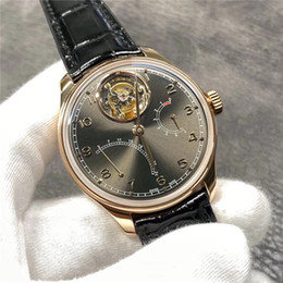 real black roses UK - YL factory real tourado automatic mechanical movement cal.51900 table by 44.2MM18K rose gold double-sided anti-reflective convex sapphire gl