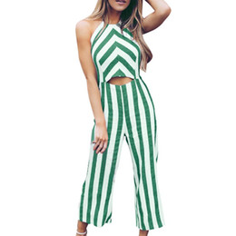 $enCountryForm.capitalKeyWord NZ - Jumpsuit bodysuits Sleeveless Overalls for women Striped Casual Clubwear Wide Leg Pants Outfits itemMAR 13