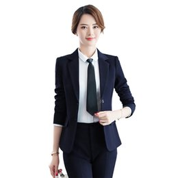 4d4e8f591b232 Women's Korean Fashion Pants and Blazers Spring Autumn Pant Suit Work Wear  Women Office 2 Piece Set Pantsuit Slim Trouser Suits