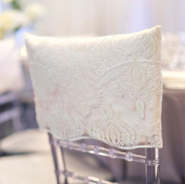 Champagne Chair Australia - 2019 Sequined Lace Custom Made Wedding Chair Covers Cheap Elegant Chair Sashes VintageWedding Decorations Wedding Accessories C01