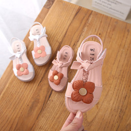 Discount baby floral canvas shoes - Baby Girl Beach Sandals Sneaker Toddler Kids Floral Casual Single Shoes kids shoes for girls sandals for girls new