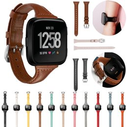 Replacement Bracelet Watch Bands Australia - For fitbit versa Band Replacement Watch band Genuine Leather wrist Watchband Strap Bracelet Smart Watch wristband Accessories