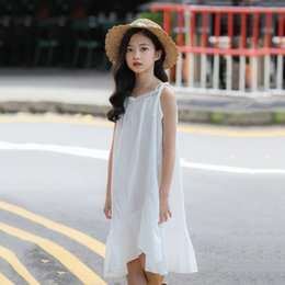 children skirt suspenders Australia - Girls suspender dress summer fashion cotton and princess skirt explosion models 2019 big children Korean version of the children's skirt