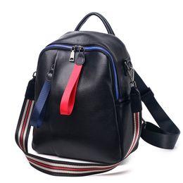 korean style girl backpack 2019 - 2019 Korean College Wind Girl School Bag High Quality Women's Backpack 100% Genuine Cow Leather Female Knapsack Moc