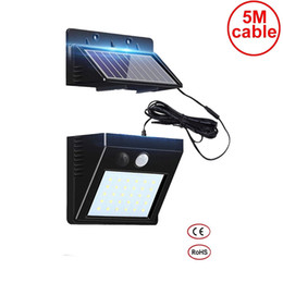 solar panel flood light Australia - 5M cable 30 leds solar light detachable panel frost resistant indoor home yard deck patio lantern security emergency lamp spot flood deck
