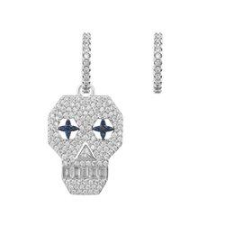 $enCountryForm.capitalKeyWord UK - New Statement Earrings Women Fashion Cute Skull Drop Earrings Jewelry Dangle Earrings Zircon Asymmetry